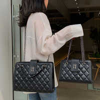 Women Handbag Quilted Bag Set 2019 Leather Tote Chain Designer Luxury Ladies Crossbody Bag Channels High Capacity Famous Bolsa