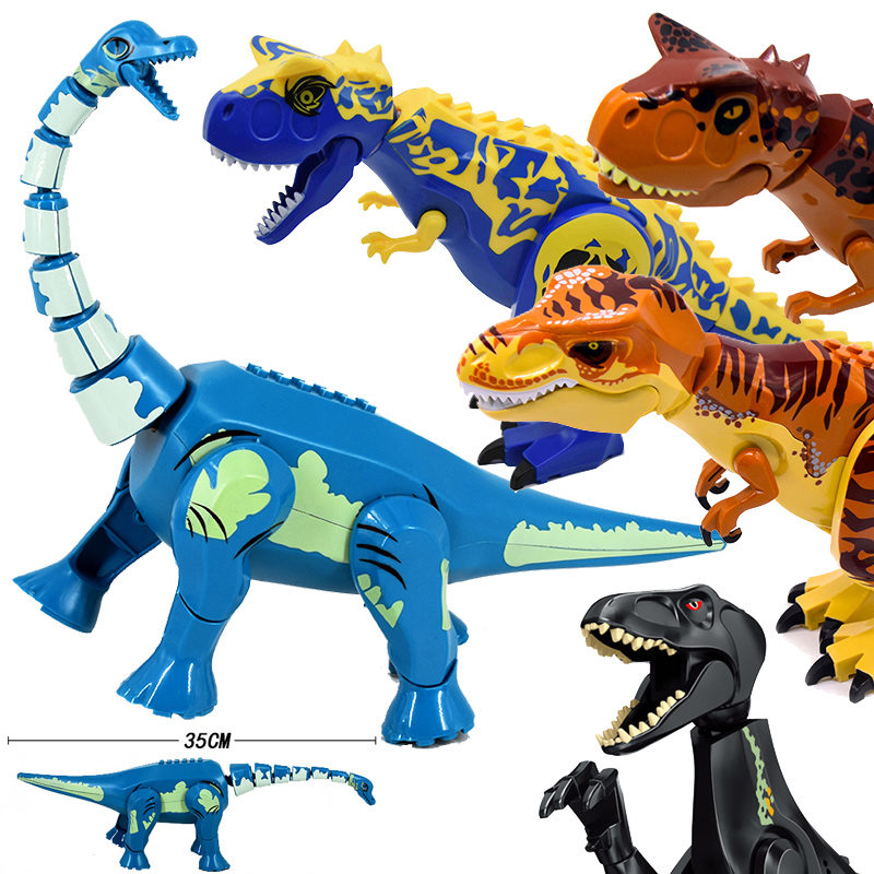 Jurassic World 2 Brutal Raptor Building Blocks Legoinglys Dinosaur Bricks Tyrannosaurus Indominus I-Rex Assemble Dino Kids Toys