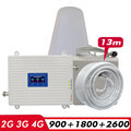 2G 3G 4G Tri Band Repeater GSM 900 + DCS LTE 1800 (B3) + FDD LTE 2600 (B7) Mobiel Signaal Booster 900 1800 2600 Signaal Versterker Set