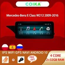 Radio Multimedia con GPS para coche, Radio con reproductor, Android 10, navegador Navi, estéreo, WIFI, 2 + 32GB RAM, Pantalla IPS táctil, para mercedes-benz W212