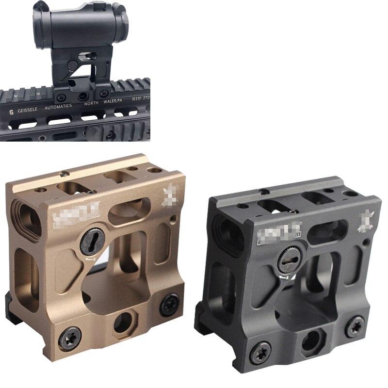 Magorui táticas âmbito riser montar un universal suporte de aumento vermelho dot sight montagem para 20mm ferroviário airsoft t1/t2 alvo tr02
