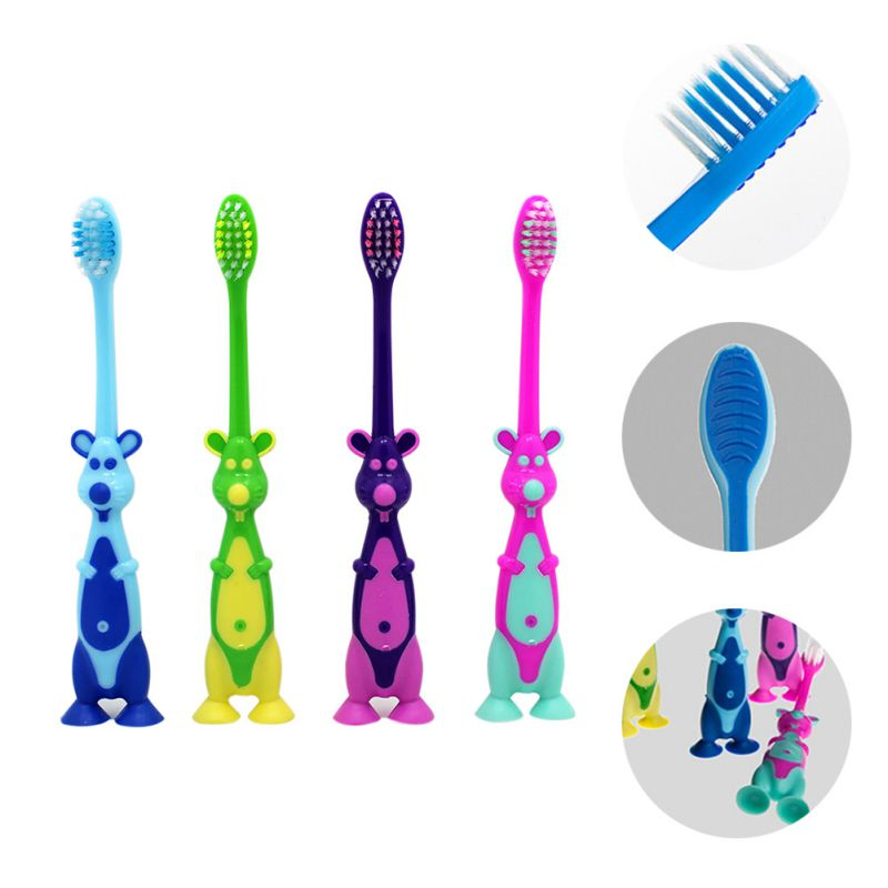 Infant Baby Cartoon Animal Shape Random Color Soft Toothbrush High Quality Cute Comfortable Oral Care Brush Tool Toothbrushes