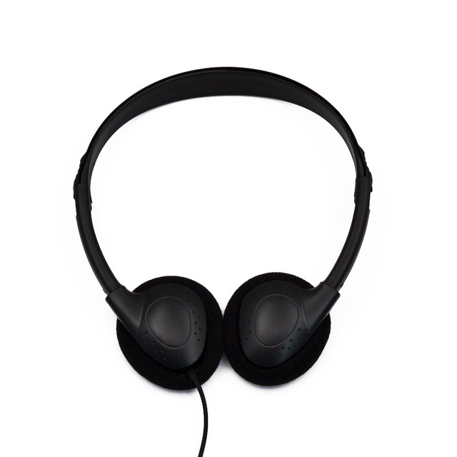 Kafa monte bilgisayar kulaklığı hiçbir mikrofon gürültü iptal spor MP3 kulaklık bilgisayar PC için