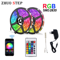 Tira LED RGB 15M 20M cinta de luz LED SMD 2835 5M 10M DC 12V impermeable RGB diodo de luz LED cinta Flexible controlador