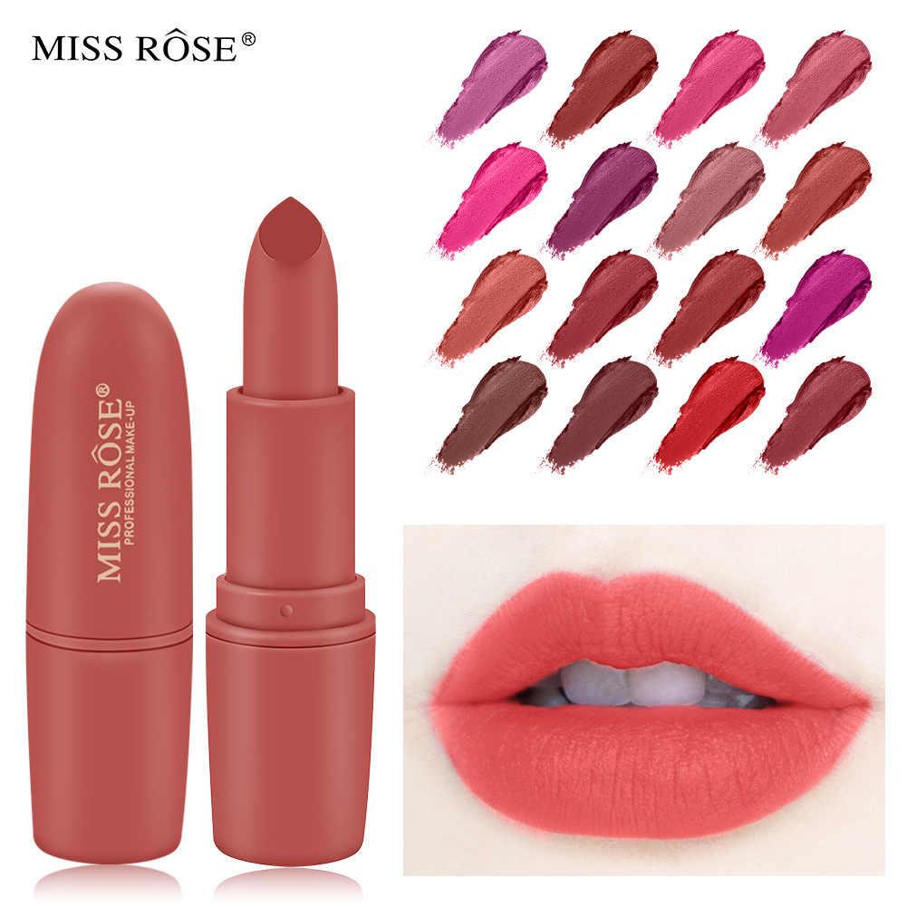 מיס רוז אדום לבנים Bullet שפתון דודה צבע ערפל מאט שפתון מתנות לנשים קל ללבוש מתנות לנשים
