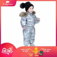 Orangemom marque 2019 hiver bébé vêtements enfants vêtements canard vers le bas manteaux pour filles veste enfants garçons combinaisons cool combinaisons de neige