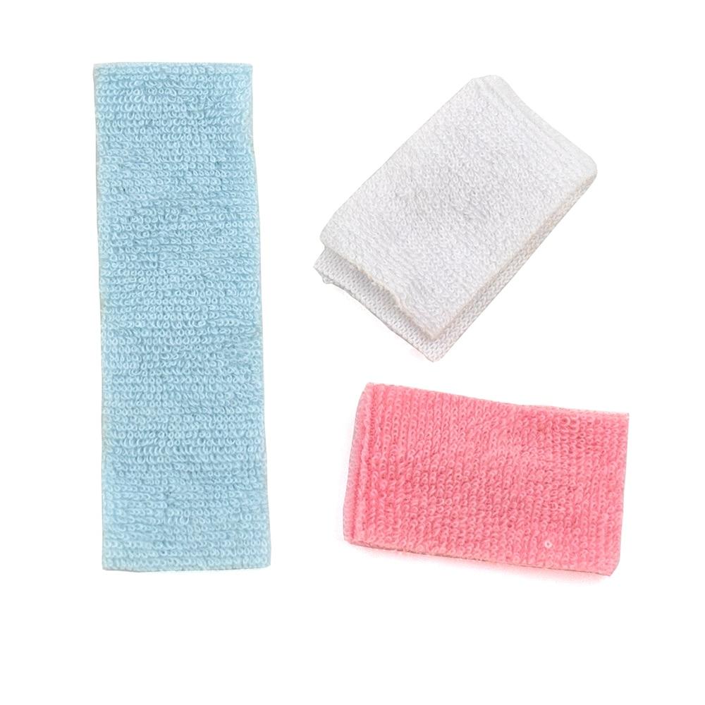 3Pcs 1/12 Dollhouse Miniature Accessories Mini Bathroom Hand Towel Simulation Model Toys for Doll House Decoration