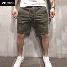 VOMINT Mens Summer Short Knee-length with Elastic Drawstring Waist Men's Sweatshort with Side Pockets  Short Pants green side pockets camouflage drawstring waist active bottoms