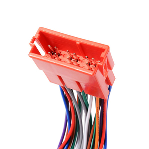 Image 5 - 1 Pcs רכב מיני ISO 20Pin תקע הארכת CD לרתום כבל מתאם נגד הפרעות אלקטרומגנטיות עבור פולקסווגן אאודי A2 a3 A4 A6 TT