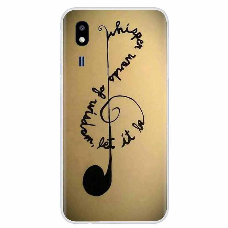 Pour BQ BQS S 5059 5035 6040L pour HTC U11 U12 Plus pour LG K10 K8 K7 K4 2017 Notes de musique violon musique classique Art couverture souple