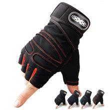 Rękawice gimnastyczne wagi ciężkiej do ćwiczeń sportowych rękawice do podnoszenia ciężarów kulturystyki sport treningowy rękawiczki do ćwiczeń dla okucia jazda na rowerze tanie tanio Octan Pół palca Uniwersalny Sport gloves Zmywalna