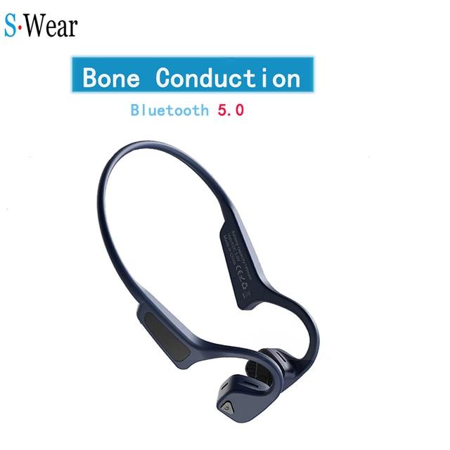 Bone Conduction Headset Wireless Bluetooth 5.0 Wireless Headphones sport Waterproof bluetooth wireless earphones
