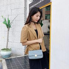Novo popular mensageiro bolsa feminina diamante corrente chanel-estilo pequeno quadrado saco