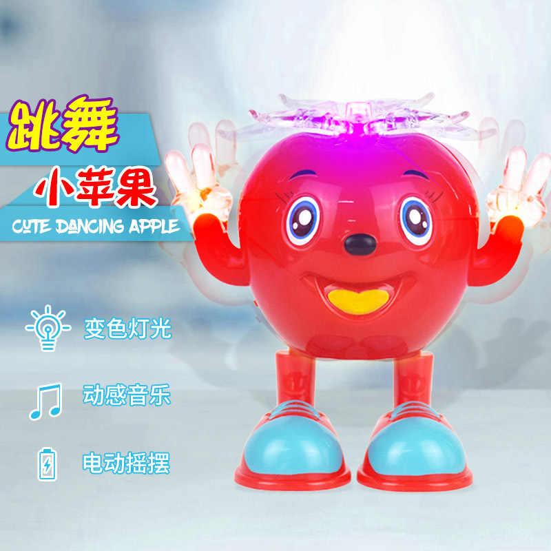 Электрический качающийся танцующий маленькое яблоко Поющий звук и светильник