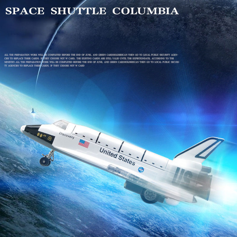 New Alloy Space Shuttle Die Cast Space Craft Space Plane SpaceShip Model 20Cm Length For Kids Toys Juguetes