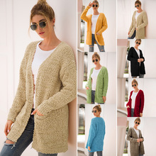 2019 Europe America fashion women sweater long full cardigans coat sueter mujer autumn winter dresses