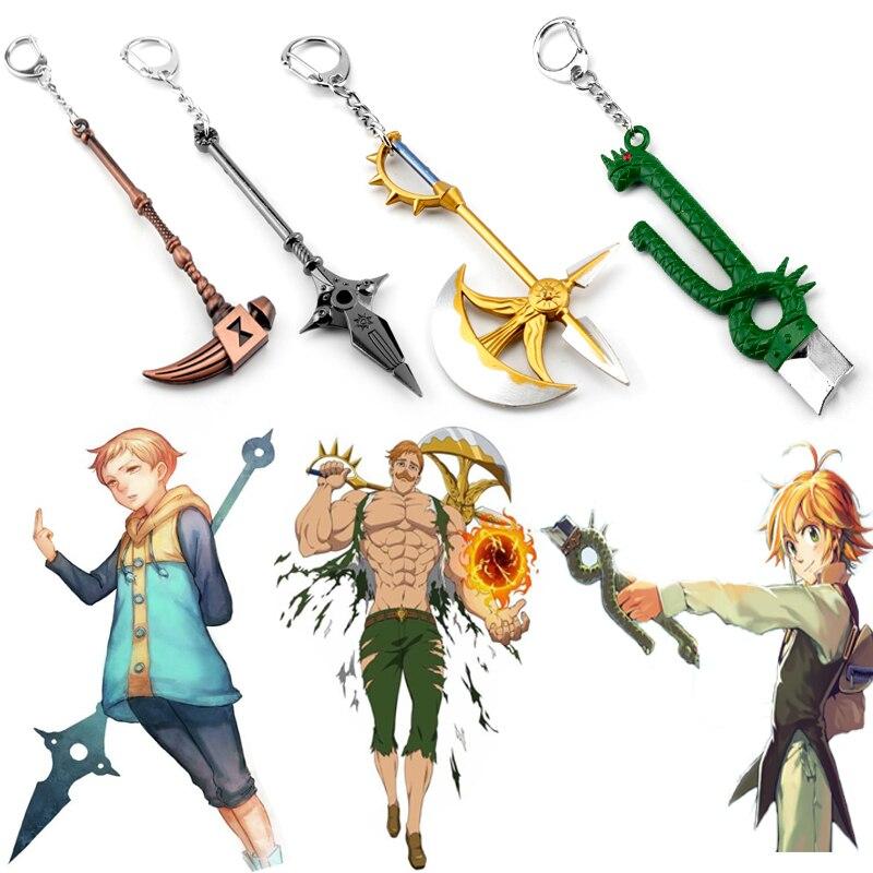 Аниме семь смертных грехов брелоки в виде оружия Meliodas Diane Harlequin Nanatsu No Taizai Axe брелок для ключей подарок