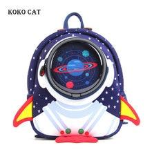 Anti-lost 3D Cartoon Rocket Children Backpack Toddler Kids Bookbag Kindergarten Bag Space Capsule School Bags Mochila Infantil все цены