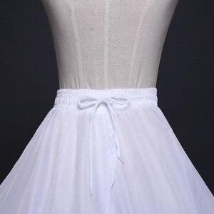 Image 4 - 2020 Braut Zubehör Hochzeit Petticoat Unterrock 4 Hoops Krinoline Petticoats für Ballkleid Hochzeit Kleider Jupon Günstige