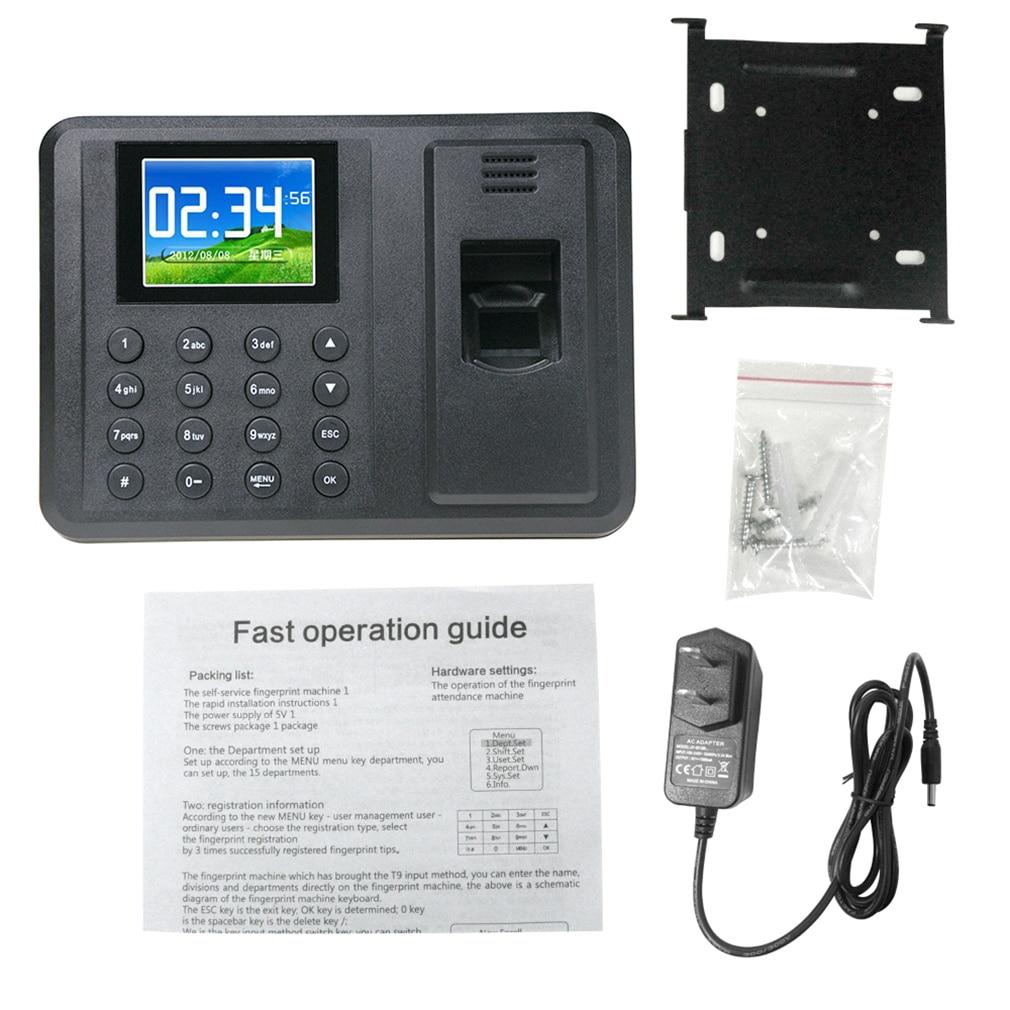 Fingerprint Time Attendance Clock Recorder Digital Electronic Reader Machine Universal 2.8 Inch TFT Sreen Display