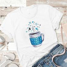 Летние женские графический принт мухер камиза футболки футболка