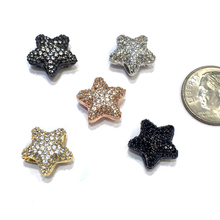 13x13mm Brass Micro Pave CZ Zircon Star Spacer Charm Finding Beads Accessories For Bracelet Necklace DIY Jewelry Design Making