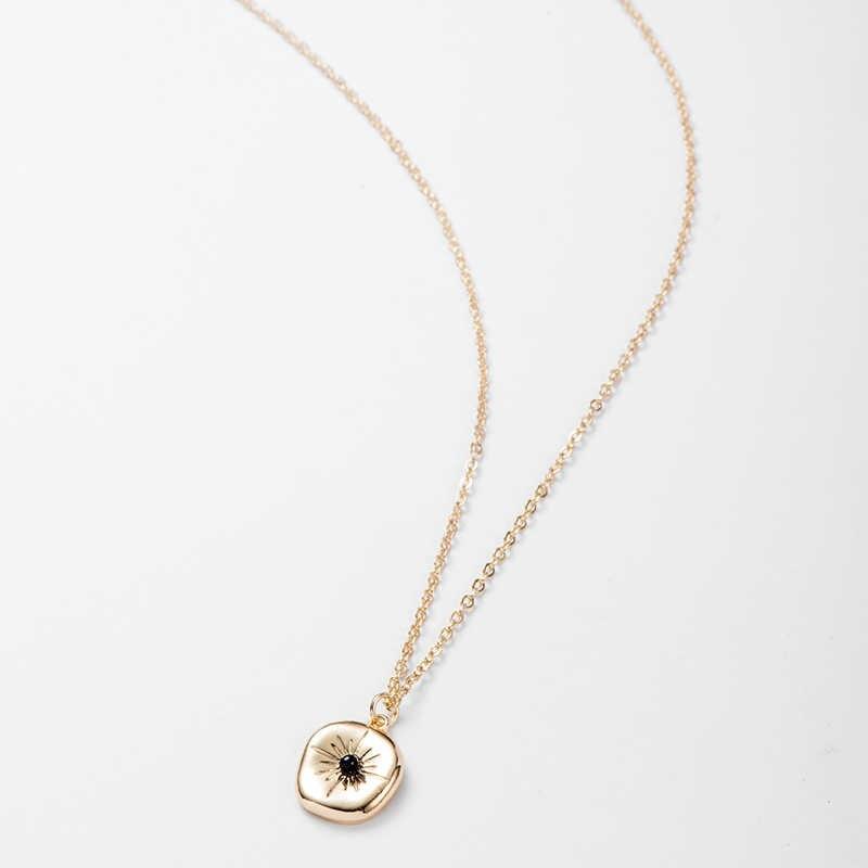 発熱 & 送料不規則な幾何学的なペンダント & ネックレス黒女性誕生日パーティーファッションネックレス宝石類のギフト