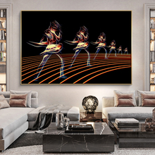 Modern Wall Decor Abstract Art Figure Canvas Painting Cuadros Wall Art Posters and Prints for Living Room Home Wall Pictures modern nordic elegant ballet dancer canvas painting wall art posters and prints for living room wall pictures home cuadros decor