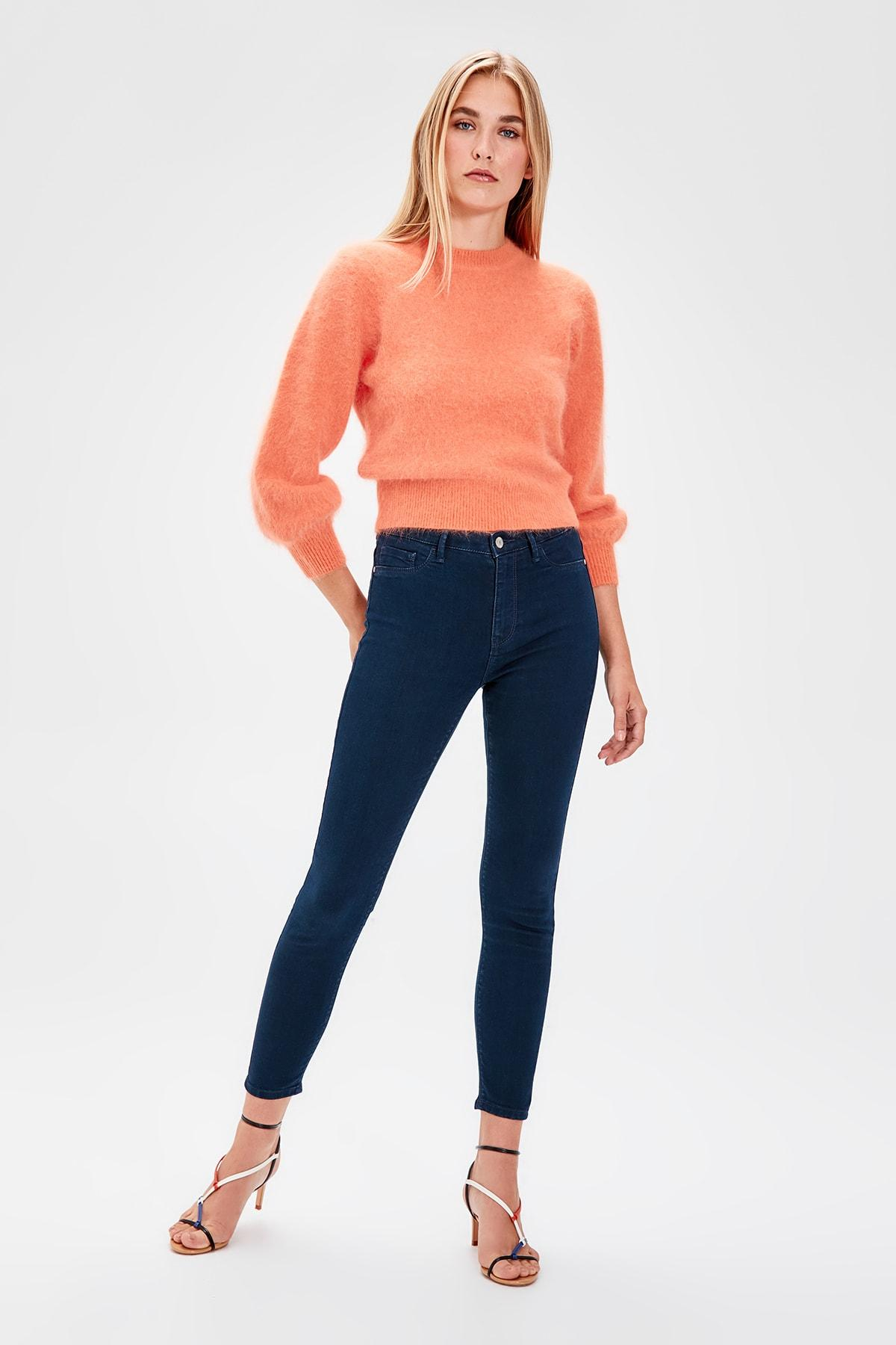 Trendyol Indigo Normal Waist Jegging Jeans TWOAW20JE0011