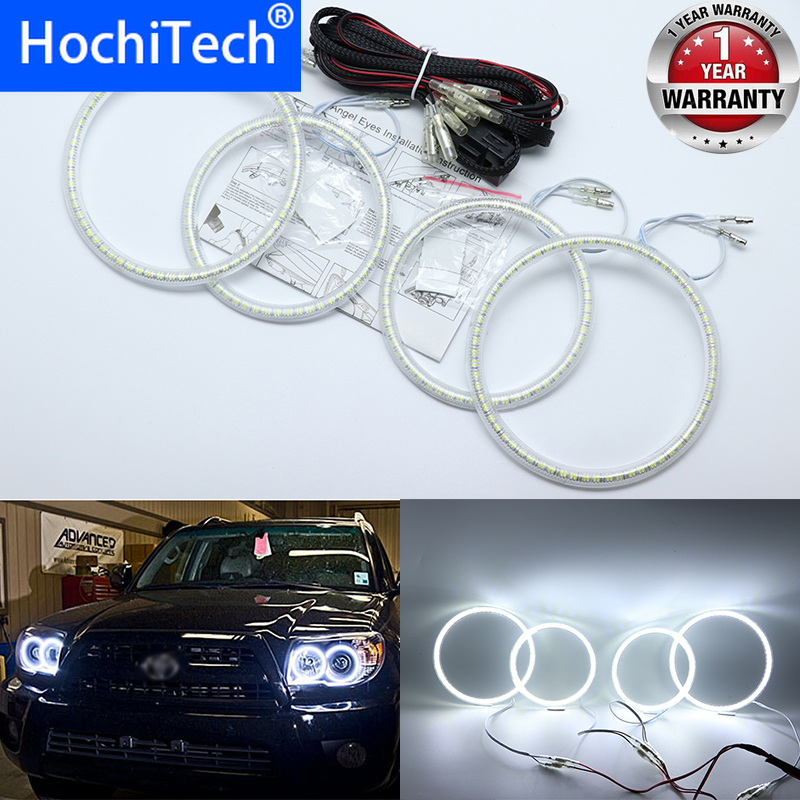 for <font><b>Toyota</b></font> <font><b>4Runner</b></font> 2006 <font><b>2007</b></font> 2008 2009 Ultra bright SMD white LED angel eyes 2600LM 12V halo ring kit day light image