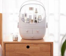 Christmas table storage box drawer portable cosmetic dustproof Makeup organizertransparent case