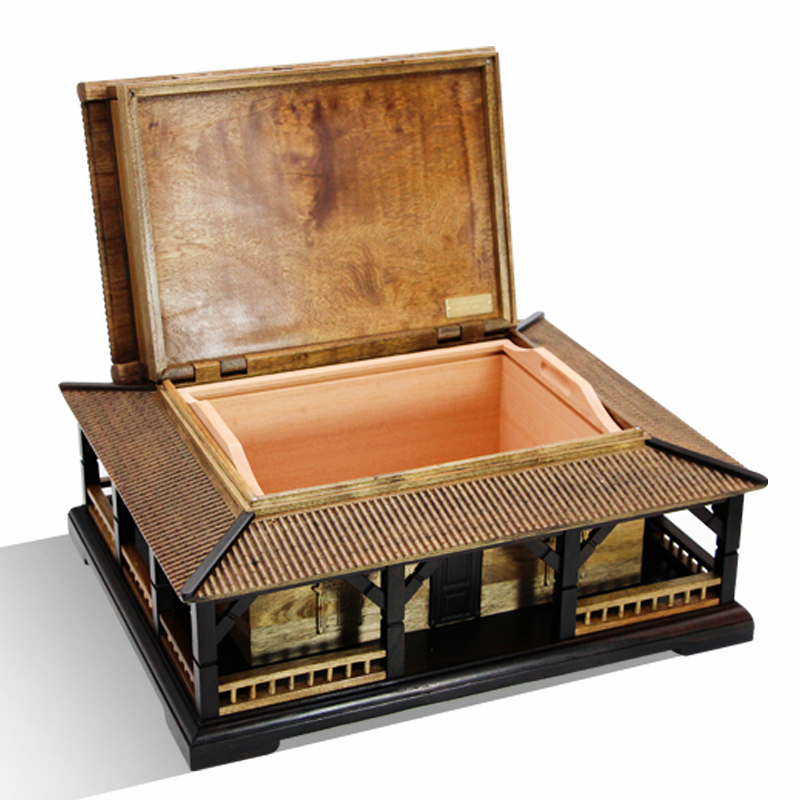 Cigar Box  Innovative Mortise And Tenon Structure Cedar Wood Moisturizing  Red Sandalwood With Small Leaves