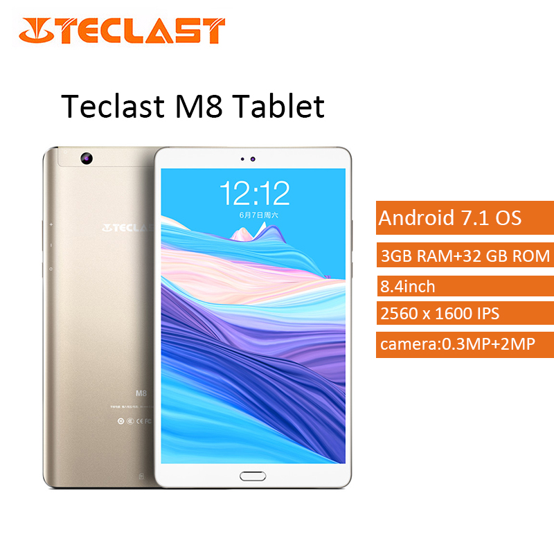 Teclast M8 8.4 Inch Tablet PC Android 7.1 Allwinner A63 1.8GHz Quad Core CPU 3GB RAM 32GB ROM 2.0MP 2560x1600 IPS Metal Type-C