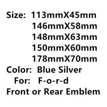 Темно-синий 3D аксессуары для стайлинга автомобиля для головной капота гриля передний задний багажник задний бампер значок эмблема логотип ...