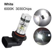 1pc 9006 HB4 lámpara de niebla LED 100W 6000K Super blanco de la luz de niebla 2323 de conducción LED Bombilla DRL luz corriente diurna del coche accesorios