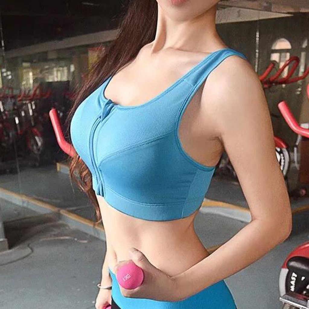 Damska letnia kamizelka Casual Sexy topy do fitnessu bez rękawów Zip-up Ladies Running sport szybkoschnąca koszulka na siłownię # H