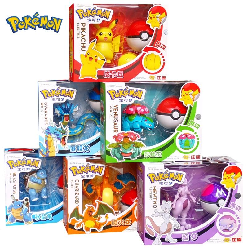 Original POKEMON Toy Pocket Monster Lunala Pikachu Solgaleo Charizard Action Figure Model Anime One Piece Toy For Kids Gift(China)