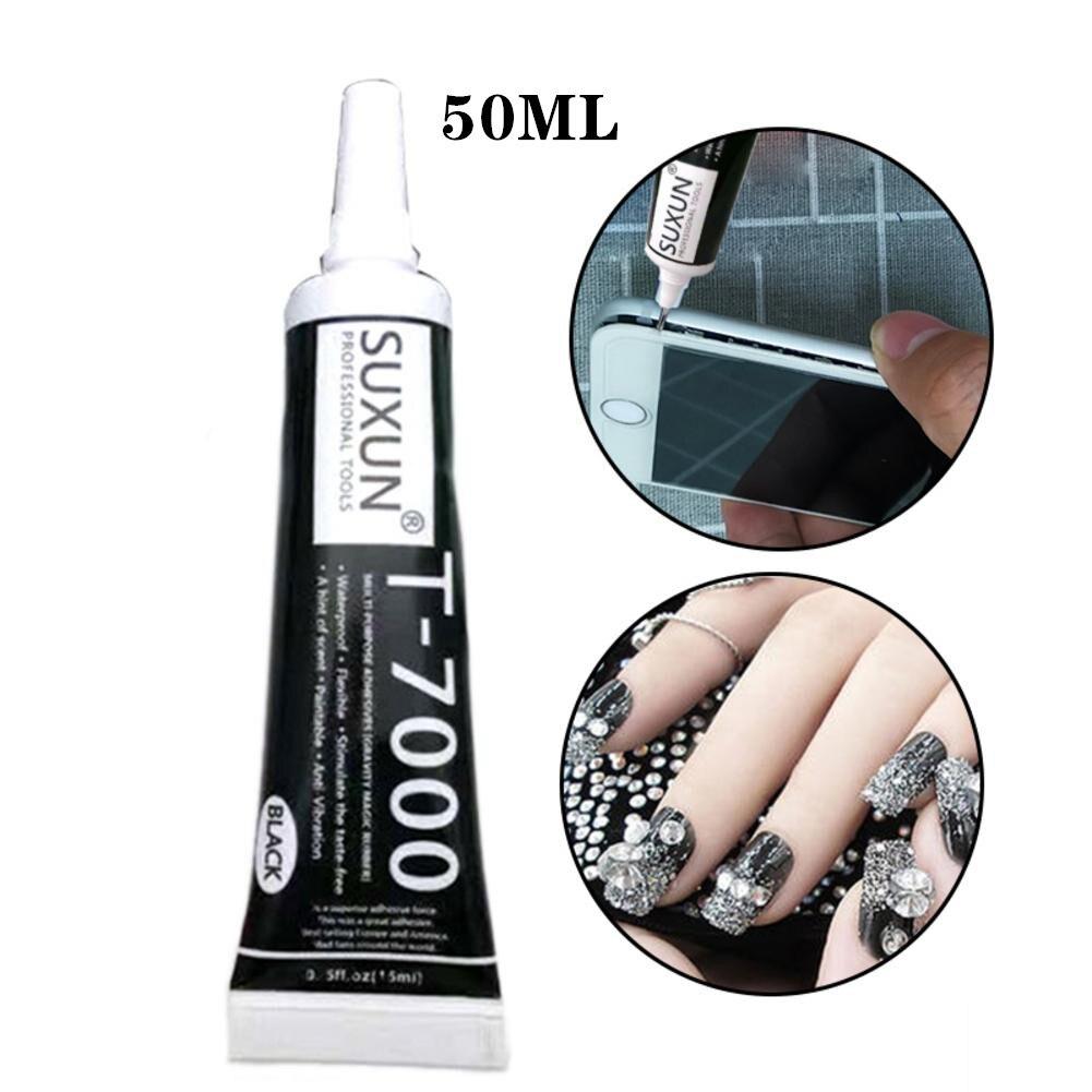 50ml T-7000 Black Universal Glue Repair Metal Glue Plastic Soft Glue DIY Handwork
