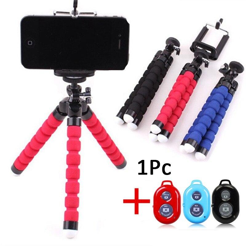 Universal Sem Fio Bluetooth Câmera Do Telefone Tripé Polvo Flexível Remoto Selfie Vara Tripé