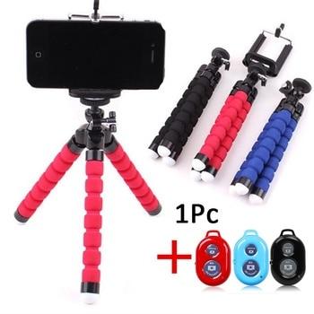 Universal inalámbrico Bluetooth trípode soporte remoto Flexible pulpo teléfono Cámara Selfie Stick trípode
