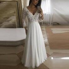 Кружевное свадебное платье А силуэта с аппликацией сексуальное