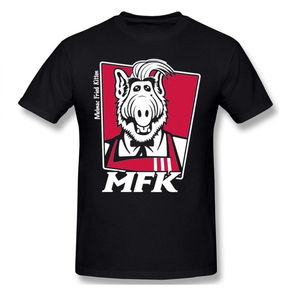 Funny Melmac Fried Kitten Alf Tee Shirt Harajuku Unisex Cartoon Graphic Print T Shirt 100% Cotton Plus Size T-Shirt