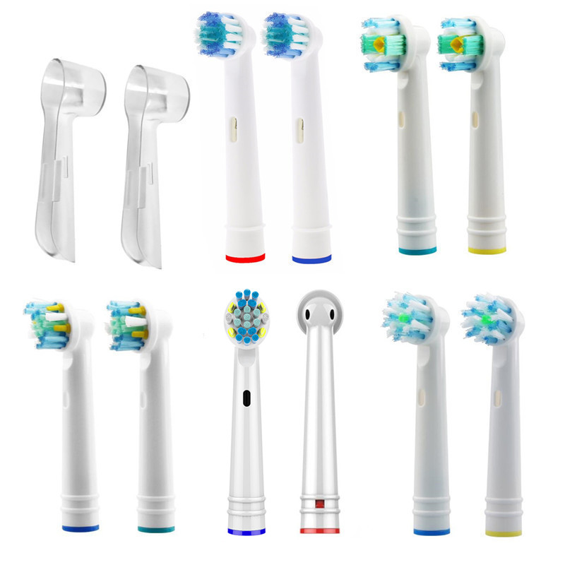 New 4pcs / Pack Electric Toothbrush Head for Oral Hygiene B Electric Tooth Brush Replacement Brush Heads for Teeth Clean image