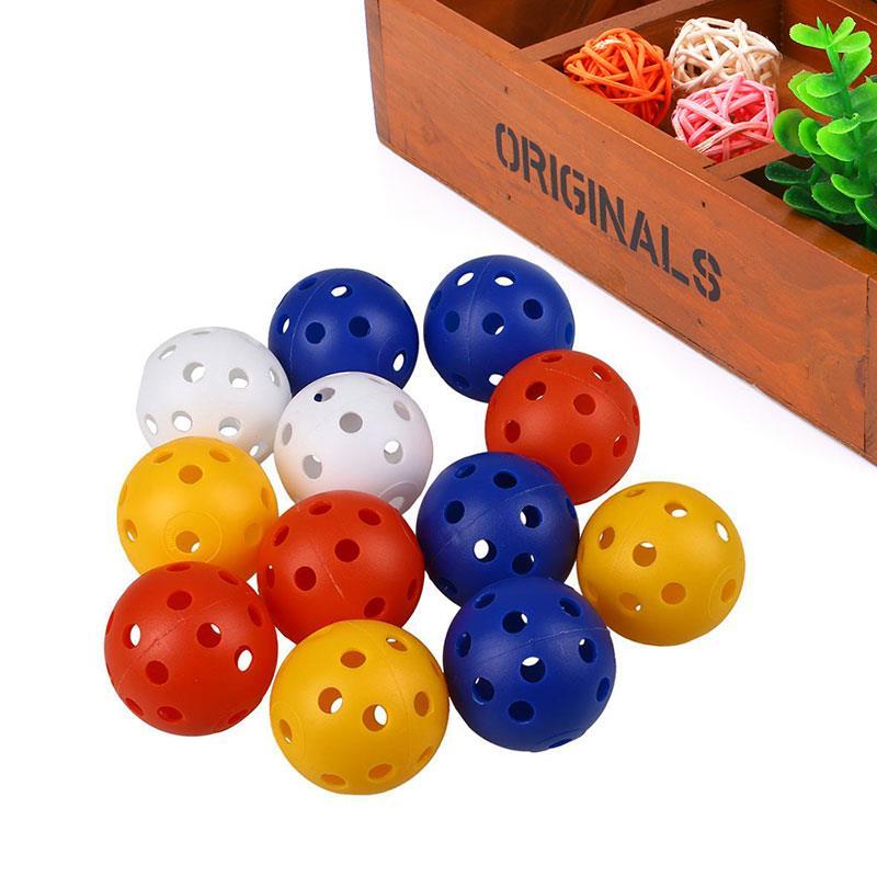 50Pcs Plastic Whiffle Airflow Hollow Golf Practice Sports Balls Golf Accessories