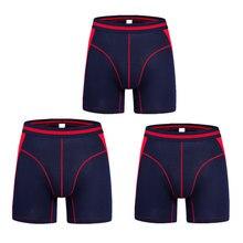 Erkek uzun iç çamaşırı boksörler Superman iç çamaşırı erkekler hediye kutusu setleri erkekler boksörler altında şort pamuk artı boyutu erkekler için hediyeler