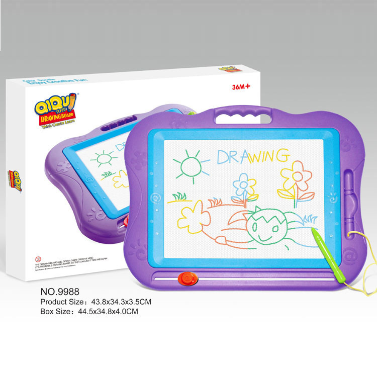 9988 Large Size Color Magnetic Drawing Board 3-Year-Old Drawing Board/Wordpad Children Learning Early Education Drawing Device