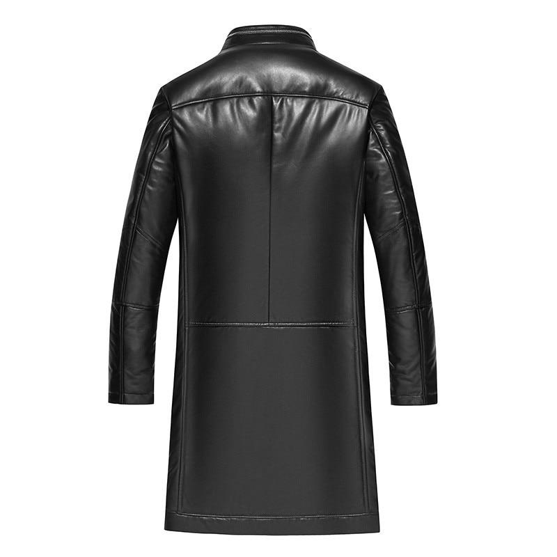 Genuine Leather Jacket Winter Jacket Men Mink Fur Collar Real Sheepskin Coat For Men Warm Down Jackets MG-1831052 Y2041