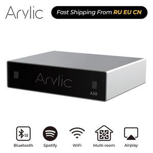 Image 1 - Arylic A30 WiFi et Bluetooth 5.0 Mini amplificateur maison HiFi stéréo classe D multiroom numérique avec Spotify Airplay égaliseur