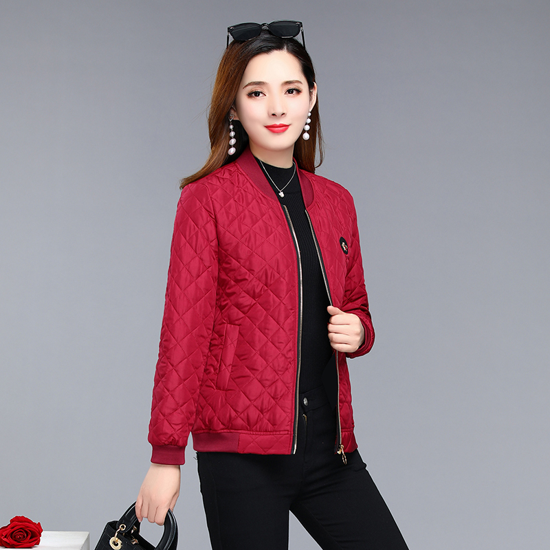 Jacket women 2019 New Spring Autumn Winter thin quilted Bomber jackets coat Woman basic   Parkas   Outerwear Female Clothings