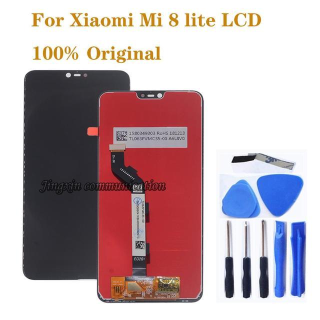 """6.26 """"الأصلي LCD ل Xiao mi mi 8 لايت mi 8X شاشة الكريستال السائل مجموعة المحولات الرقمية لشاشة تعمل بلمس ل Xiao mi mi 8 لايت LCD إصلاح أجزاء"""